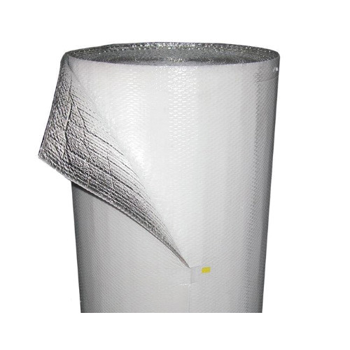 rFoil® Square Edge Insulation Roll, Poly-Reflective Bubble Insulation, Aluminum/Poly Film, Double, Class 1/Class A