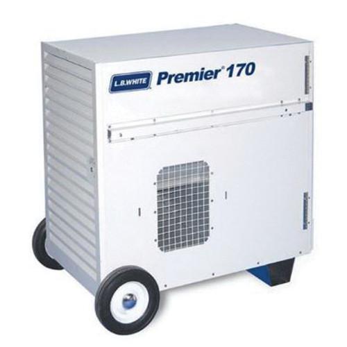 L.B. White® Premier® Ductable Portable Unit Heater, 170000 Btu/hr, 5/7.3 A, 1/3 hp, LP Gas