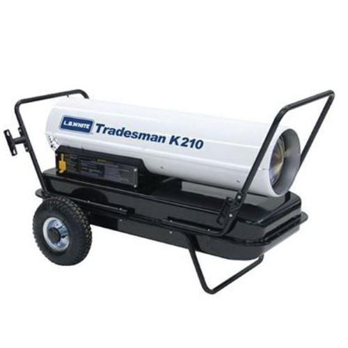 L.B. White® Tradesman® Portable Forced Air Heater, 210000 Btu/hr, 3.7 A, 1/3 hp