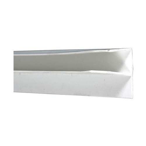 White PVC Molded Outside Corner, 15/52 in THK, 8 ft L