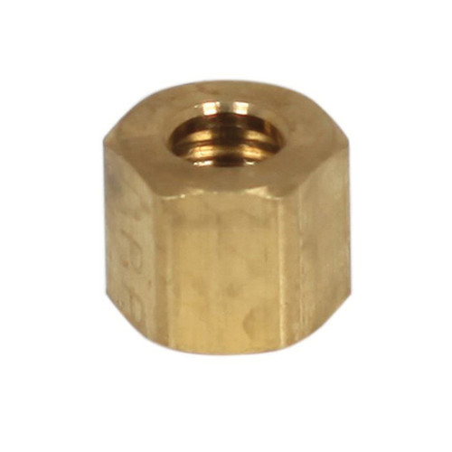 Chore-Time® Compression Nut, Nut Connector, 1/4 in, Compression, Brass