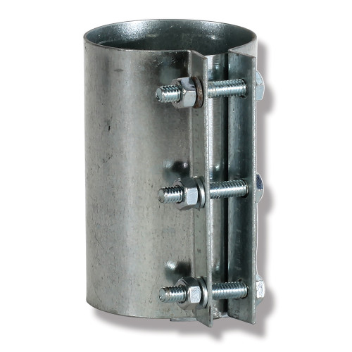 Agri-Plastics Coupler With Hardware, For Use With AP Chain Disk Tube and Model 236 Chain Disk System, Steel