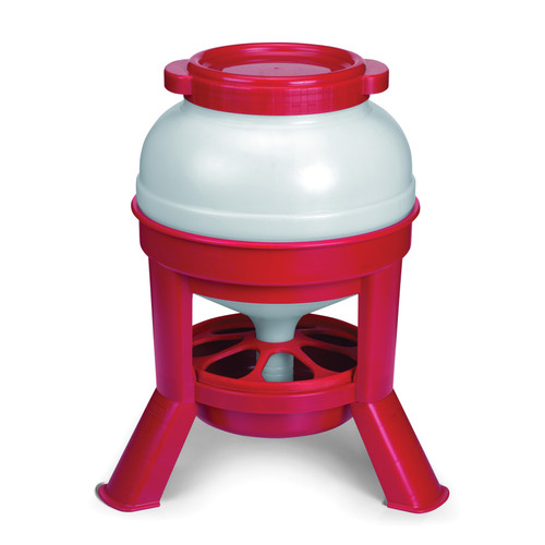 Little Giant Plastic Large Capacity Dome Feeder, 35 lb, 14.6 in L x 19.7 in H