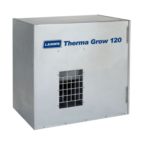 L.B. White® Therma Grow™ Hot Surface Ignition Greenhouse Heater, 120000 Btu/hr, 115 VAC, 4.5/11.8 A, 60 Hz, LP Gas