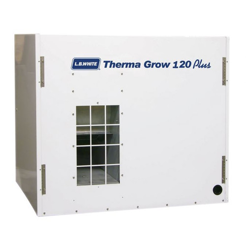 L.B. White® Therma Grow™ Hot Surface Ignition Greenhouse Heater, 65000/120000 Btu/hr, 115 VAC, 4.5/11.8 A, 60 Hz, Natural Gas