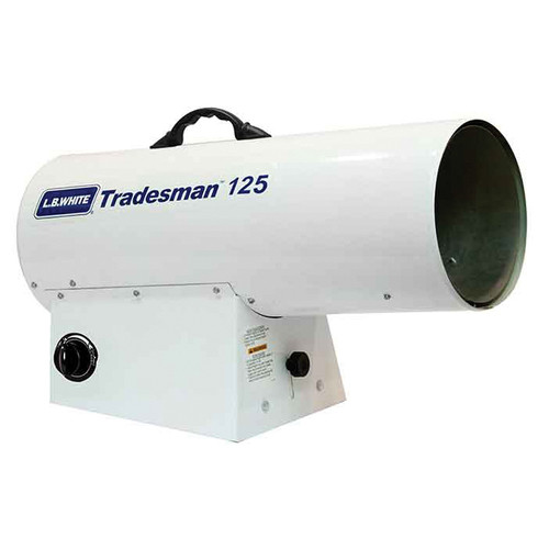 L.B. White® Tradesman® Portable Forced Air Heater, 70000 to 125000 Btu/hr, 115 VAC, 0.7/2 A, LP Gas