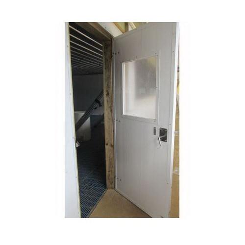 PVC Swinging Door With Window and Latch
