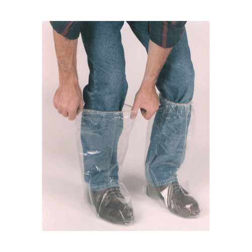 Clear Vinyl 6 Mil Disposable Plain Toe Boot Cover 5 Pair
