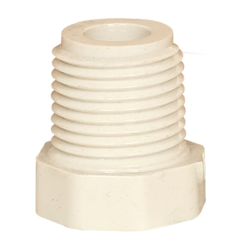 PVC Bushing 1/4 In FPT x 1/2 In MPT