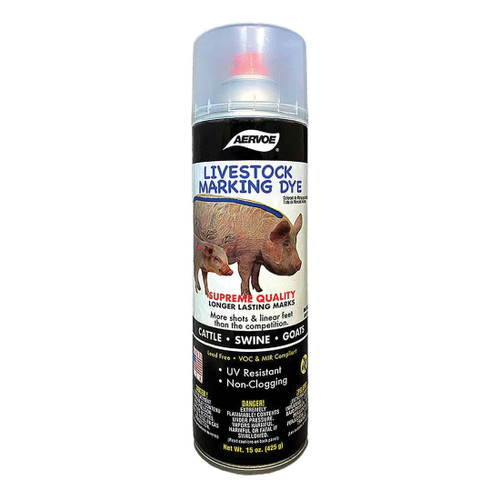 Aervoe® Black Livestock Aerosol Marking Dye 15 oz