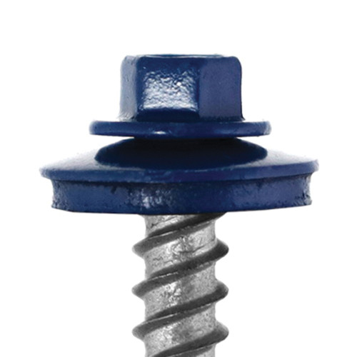 Levi's® ReGrip™ Screw, #12, 1-1/2 in OAL, Hex Head, Stainless Steel, Galvanized, SP Point