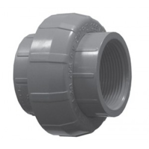 Spears® Pipe Union With EPDM O-Ring Seal, 1 in, FNPT, PVC