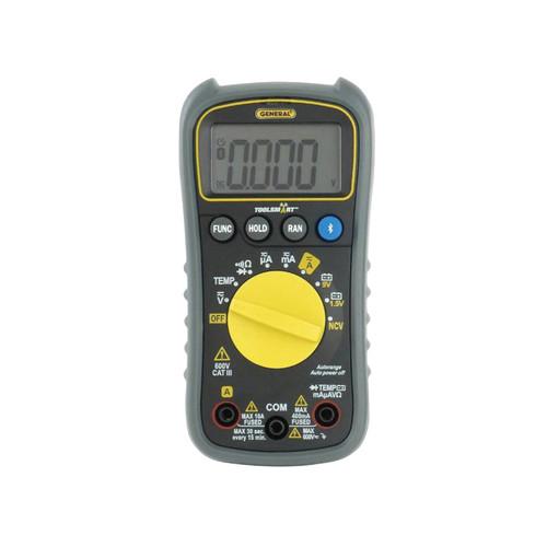 GENERAL® ToolSmart™ Digital Multimeter With Backlight, 0 to 600 V, 0 to 400 uA, 4 mA, 40 mA, 400 mA, 10 A