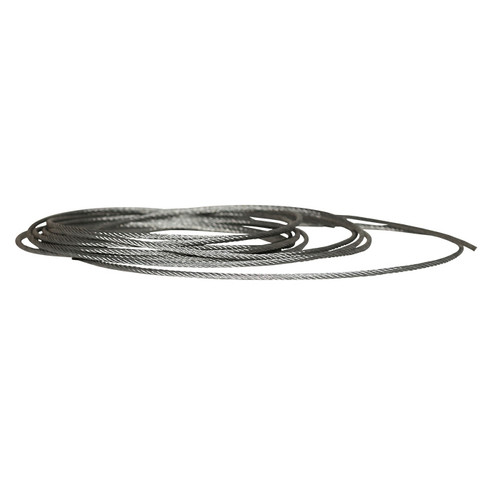 Aircraft Cable, 3 mm Dia x 2000 ft L, Galvanized Steel