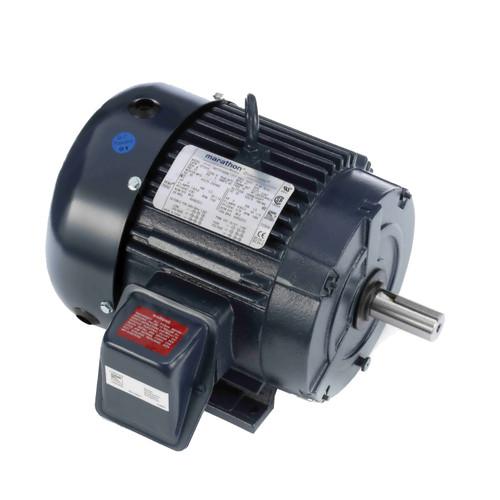 marathon® Motors 4-Pole Auger Motor, Application Type: General Purpose, 3 hp, 208 to 230/460 VAC, 60 Hz, 3 ph, 182T