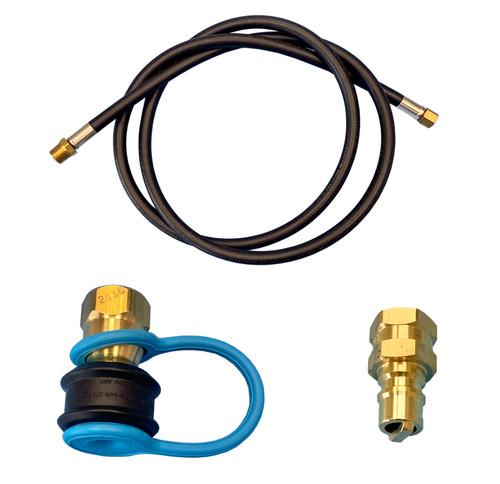 GASOLEC Gas Hose Kit, 1/4 x 1/8 in, MNPT x Female Swivel, 6 ft L