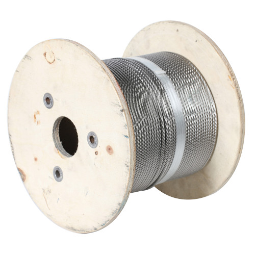 Aircraft Cable, 3/16 in Dia x 500 ft L, Galvanized Steel