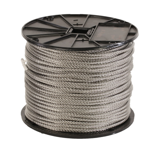 Fortune Rope Aircraft Cable, 3/16 in Dia x 500 ft L, 304 Stainless Steel