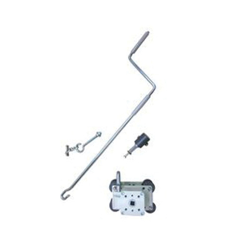 Long Handled Manual Gear Crank With Handle, Internal Brake, For Up to 240 ft L x 5 ft H Curtains