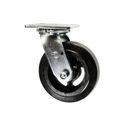 30 Series Heavy Duty Swivel Caster With Double Ball Bearing Heat Treated Raceways, 5/8 in Bolted Kingpins, 500 lb Load