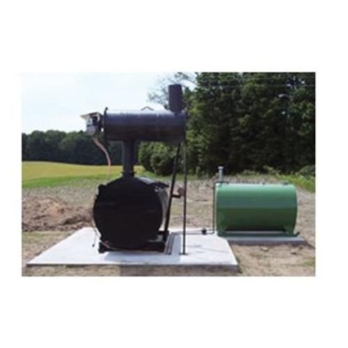 Burn-Easy 34 Series Heat Lined Incinerator, 200 lb, 75 to 100 lb/hr, LP, Steel