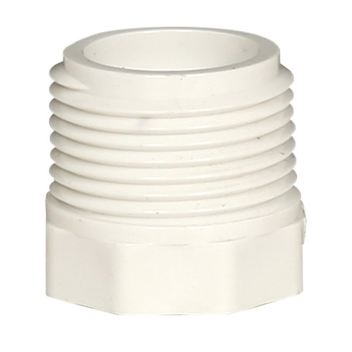 PVC Reducer Bushing Connector 3/4 in MPT x 1/2 in FPT