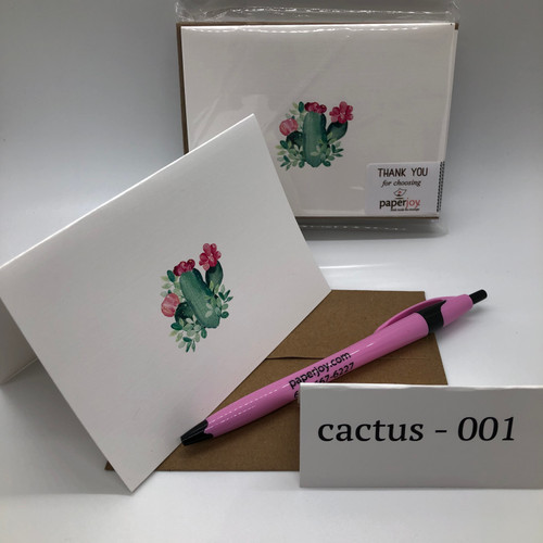 Cactus Cards are the perfect way to send a little sunshine to someone that needs it. Each pack comes with 10 4 x 6 cards and envelopes. Blank inside.