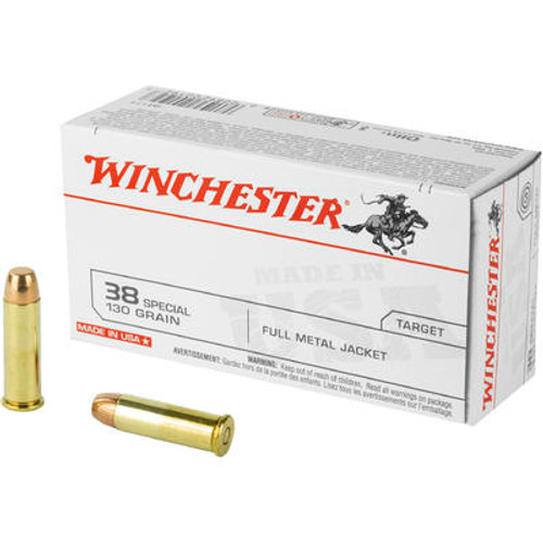 Winchester .38 Special 130GR FMJ, 50RD