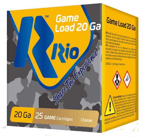 "Rio Game Load 20GA 2 3/4"", 1250FPS, 1oz. #7.5, 25RD"