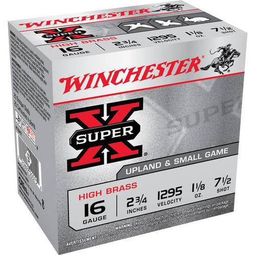 """Winchester Super-X Upland & Small Game 16GA 2 3/4"""", 1 1/8oz. 1295FPS, #7.5, 25RD"""