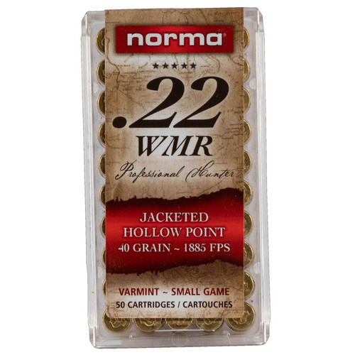 Norma .22WMR 40GR Jacketed Hollow Point, 50RD