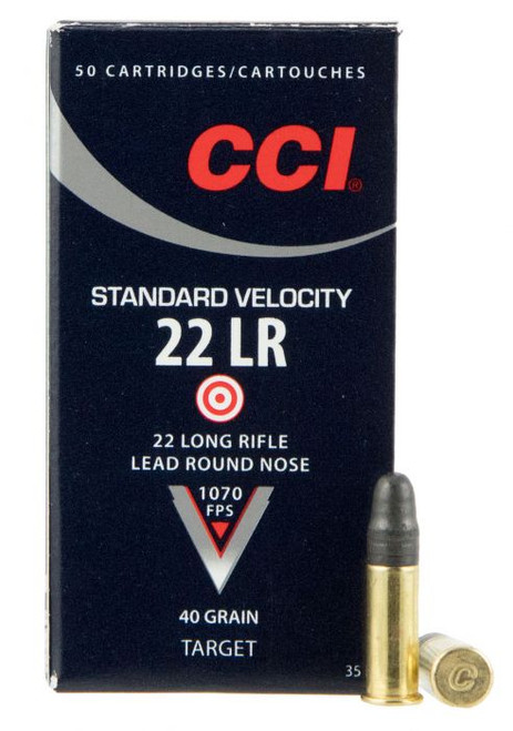 CCI Standard Velocity .22LR 40GR, 50RD