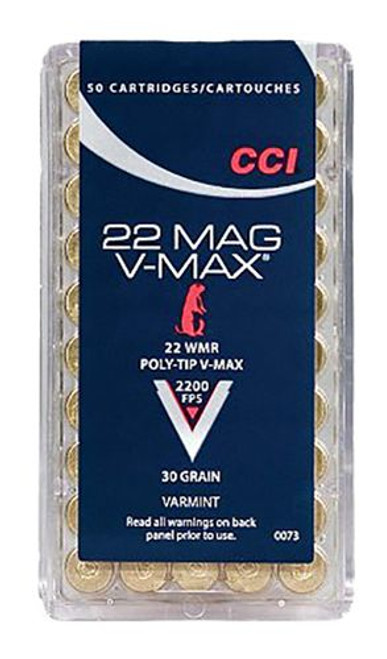 CCI .22WMR 30GR V-MAX, 50RD