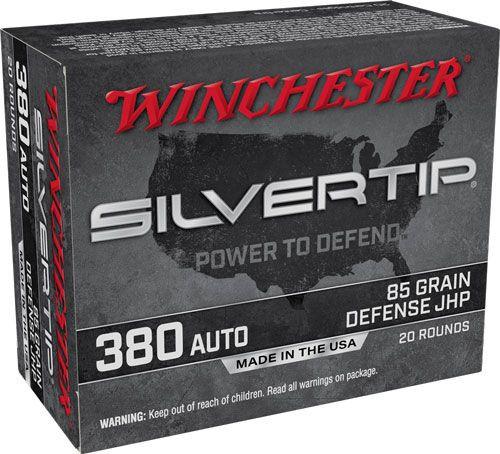 Winchester .380 Auto 85GR Silvertip JHP, 20RD