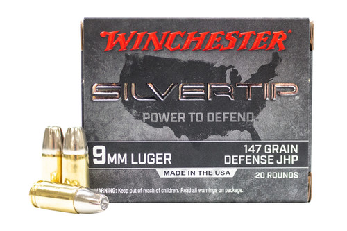 Winchester 9mm Luger 147GR Silvertip JHP, 20RD