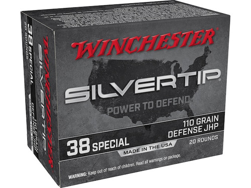 Winchester .38 Special 110GR Silvertip JHP, 20RD