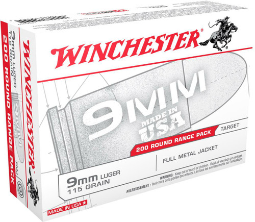 Winchester 9mm Luger 115GR FMJ, 200RD
