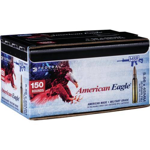 Federal American Eagle 5.56mm NATO 55GR FMJ, 150RD
