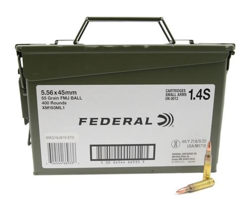 Federal 5.56mm NATO 55GR FMJBT, 400RD
