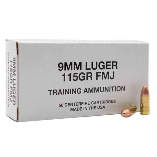 Blazer Brass Training 9mm 115GR FMJ, 50RD