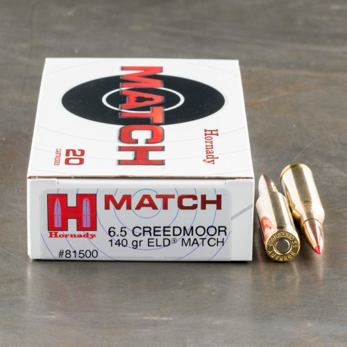 Hornady Match 6.5mm Creedmoor 140GR ELD, 20RD