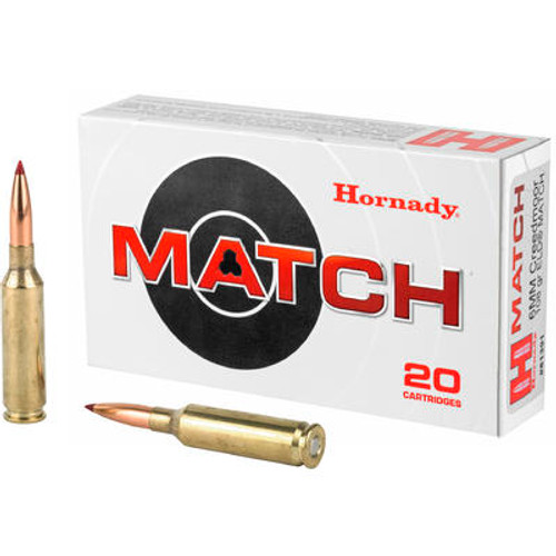 Hornady Match 6mm Creedmoor 108GR ELD, 20RD