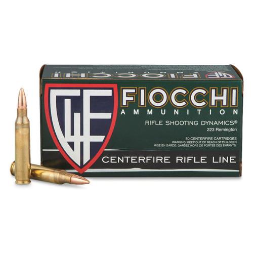 FIOCCHI  .223 Remington 62GR FMJBT, 50RD