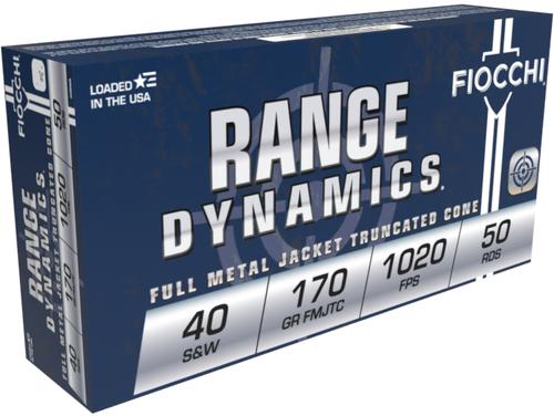 FIOCCHI Range Dynamics .40 S&W 170GR FMJ-TC, 50RD