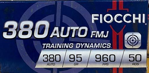 FIOCCHI Training Dynamics .380 Auto 95GR FMJ, 50RD