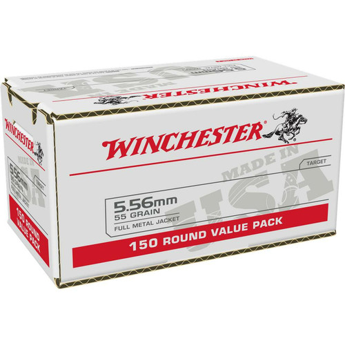 Winchester 5.56mm NATO 55GR FMJ, 150RDs