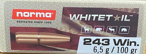 Norma Whitetail .243 Winchester 100GR Soft Point, 20RD