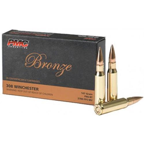 PMC Bronze .308 Winchester 147GR FMJ-BT, 20RD