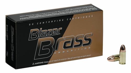 Blazer Brass 9mm Luger 147GR FMJ, 50RD