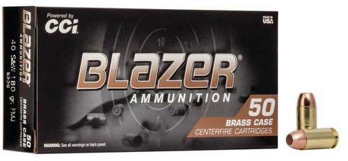 Blazer Brass .40 S&W 180GR FMJ, 50RD